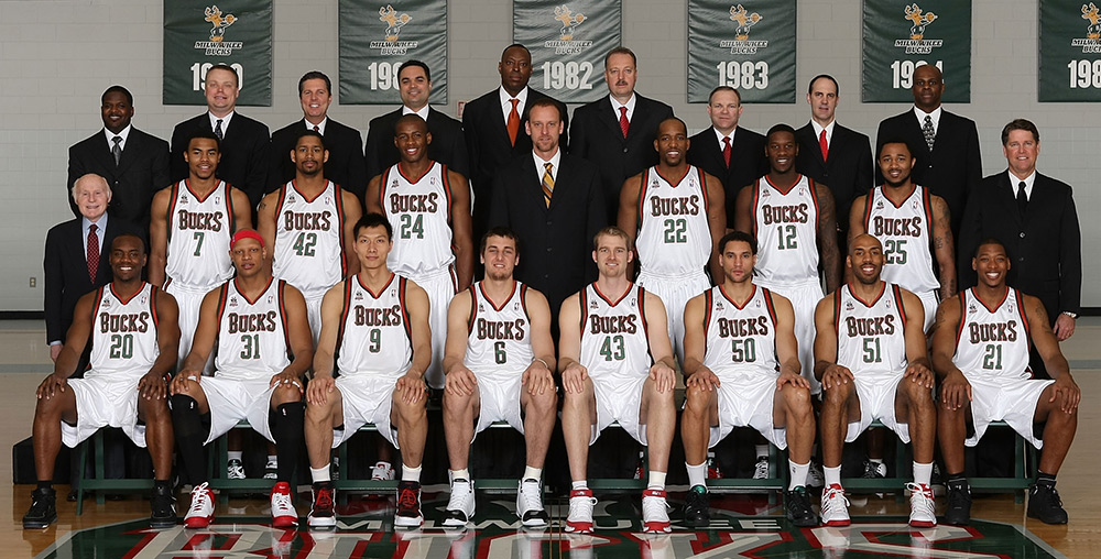 Milwaukee Bucks 2007-08 Team Photo