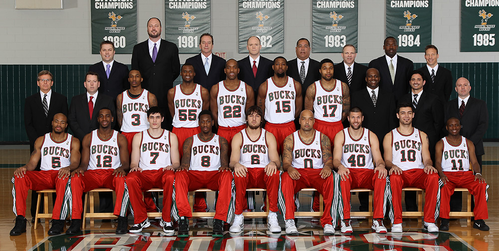 Milwaukee Bucks 2010-11 Team Photo