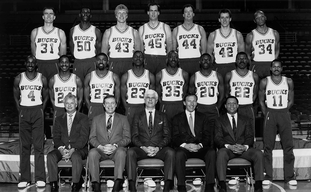 Milwaukee Bucks 1988-89 Team Photo