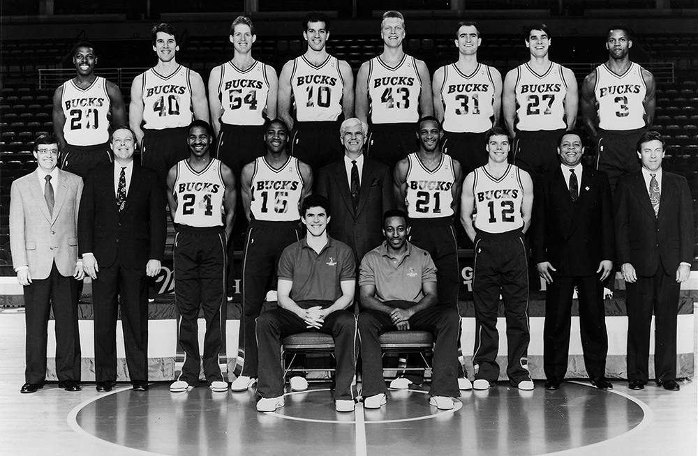 Milwaukee Bucks 1990-91 Team Photo