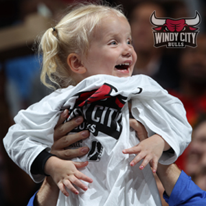 A Young bulls fan wearing a Windy City Bulls shirt
