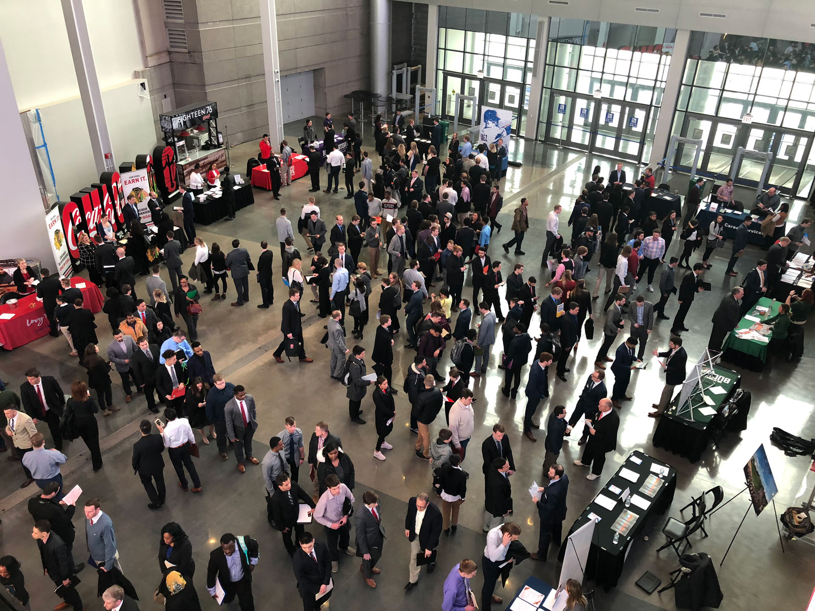 Attendees at the 2017-18 Chicago Bulls Career Fair