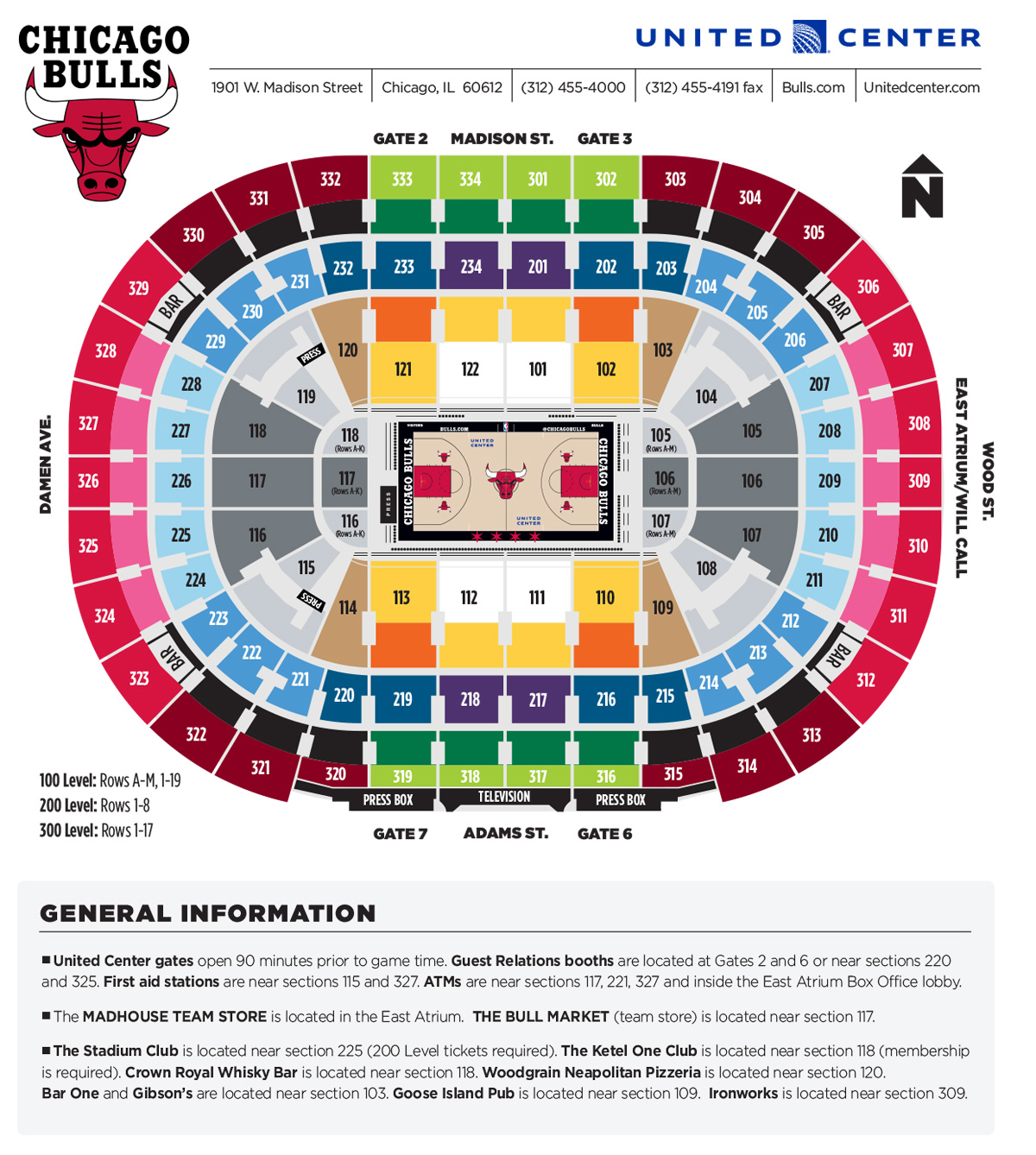 United Center Seating Map