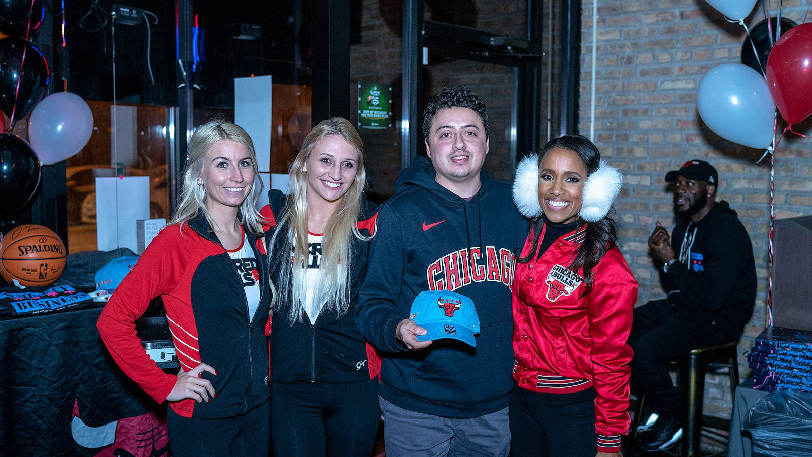 Bulls Entertainers at the bar