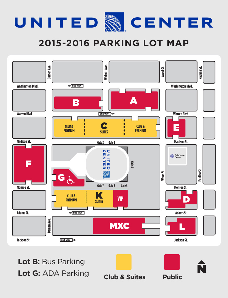 United Center parking diagram