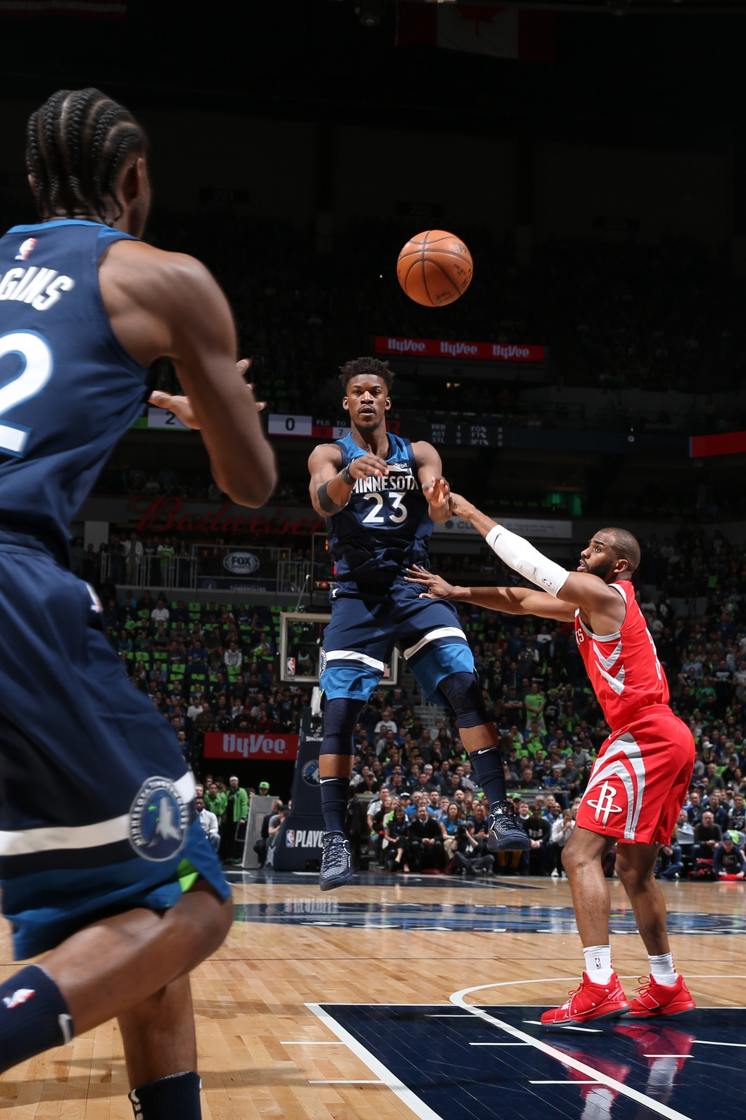 Jimmy Butler passes the ball