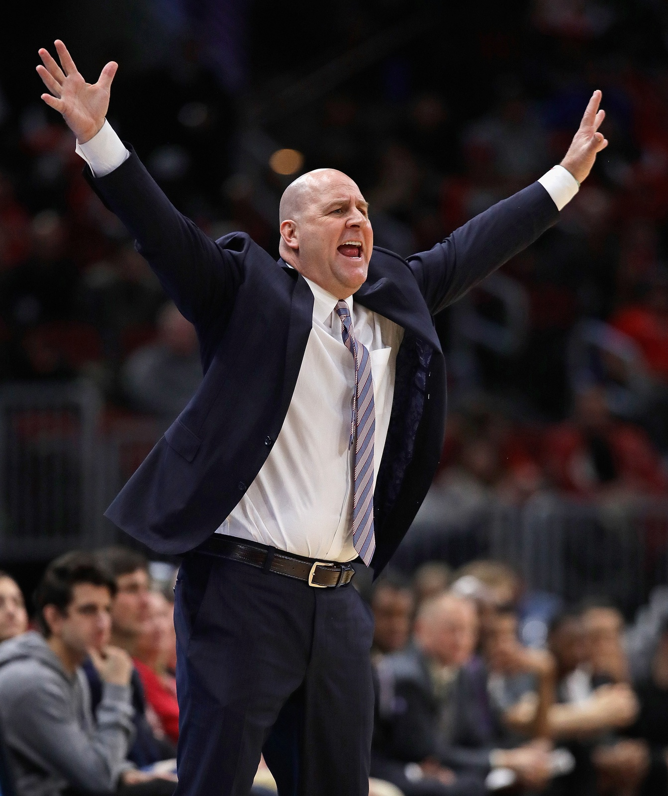 Head coach Jim Boylen of the Chicago Bulls yells at his team during a game against the Atlanta Hawks at the United Center on March 03, 2019 in Chicago, Illinois