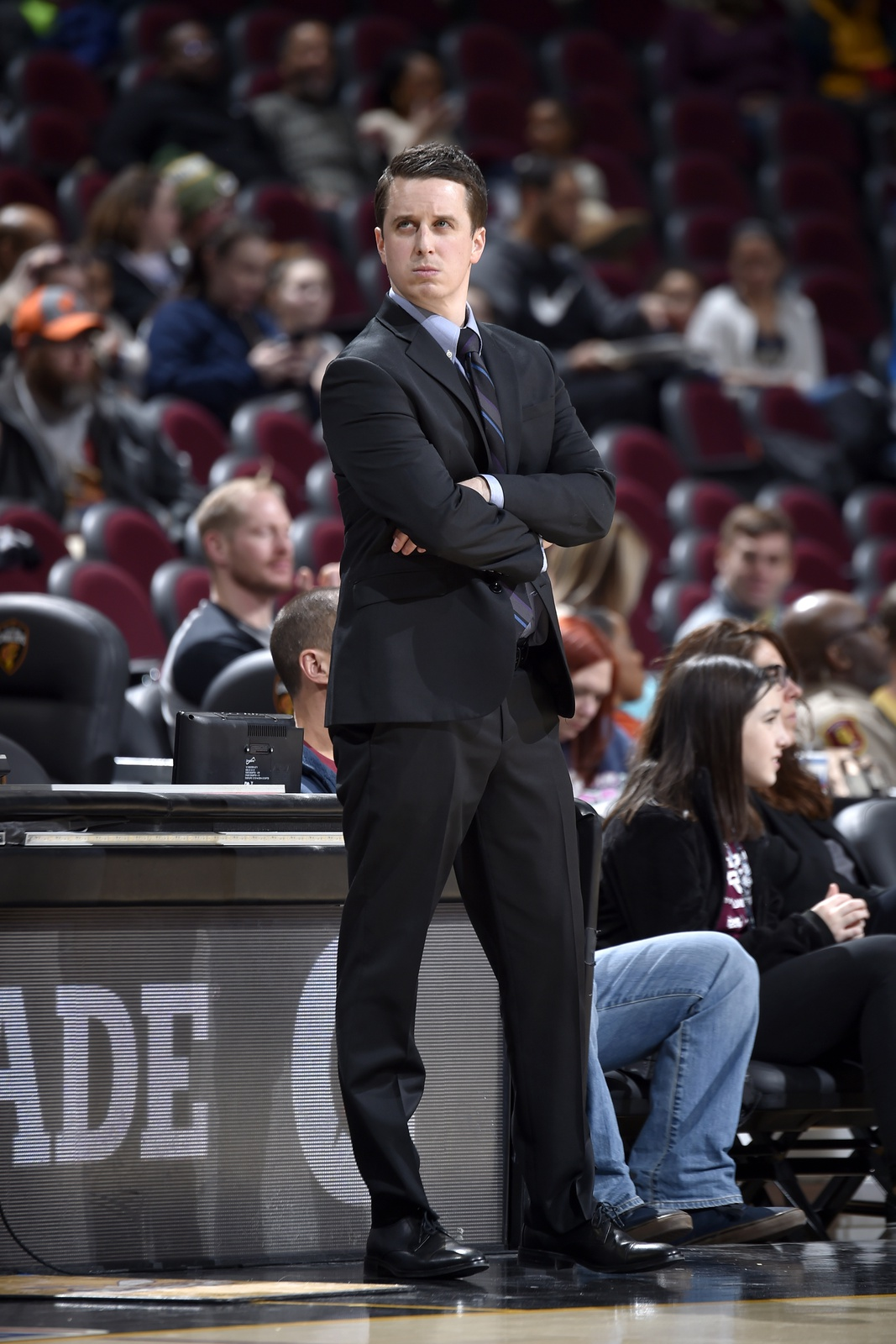 Head Coach Charlie Henry of the Windy City Bulls looks on during the game against the Canton Charge during the NBA G League on February 2, 2019 at Quicken Loans Arena in Cleveland, Ohio.