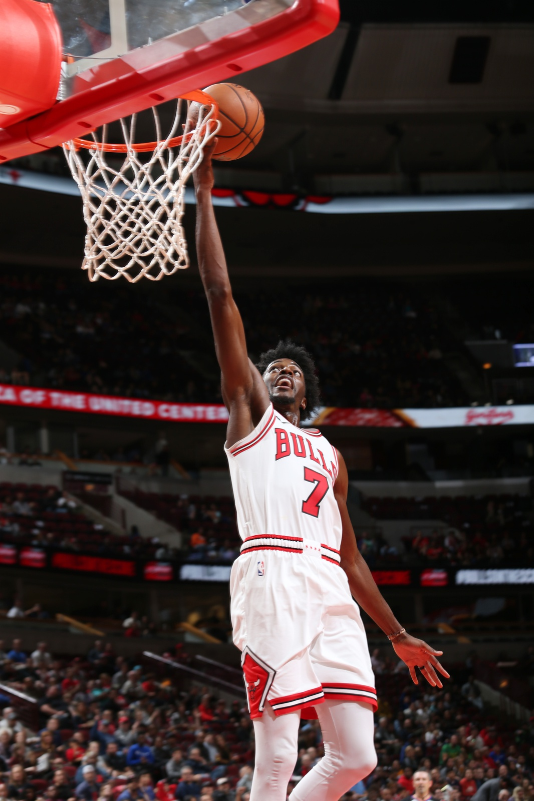 Justin Holiday #7 of the Chicago Bulls shoots the ball against the Indiana Pacers during a pre-season game on October 10, 2018 at the United Center in Chicago, Illinois.