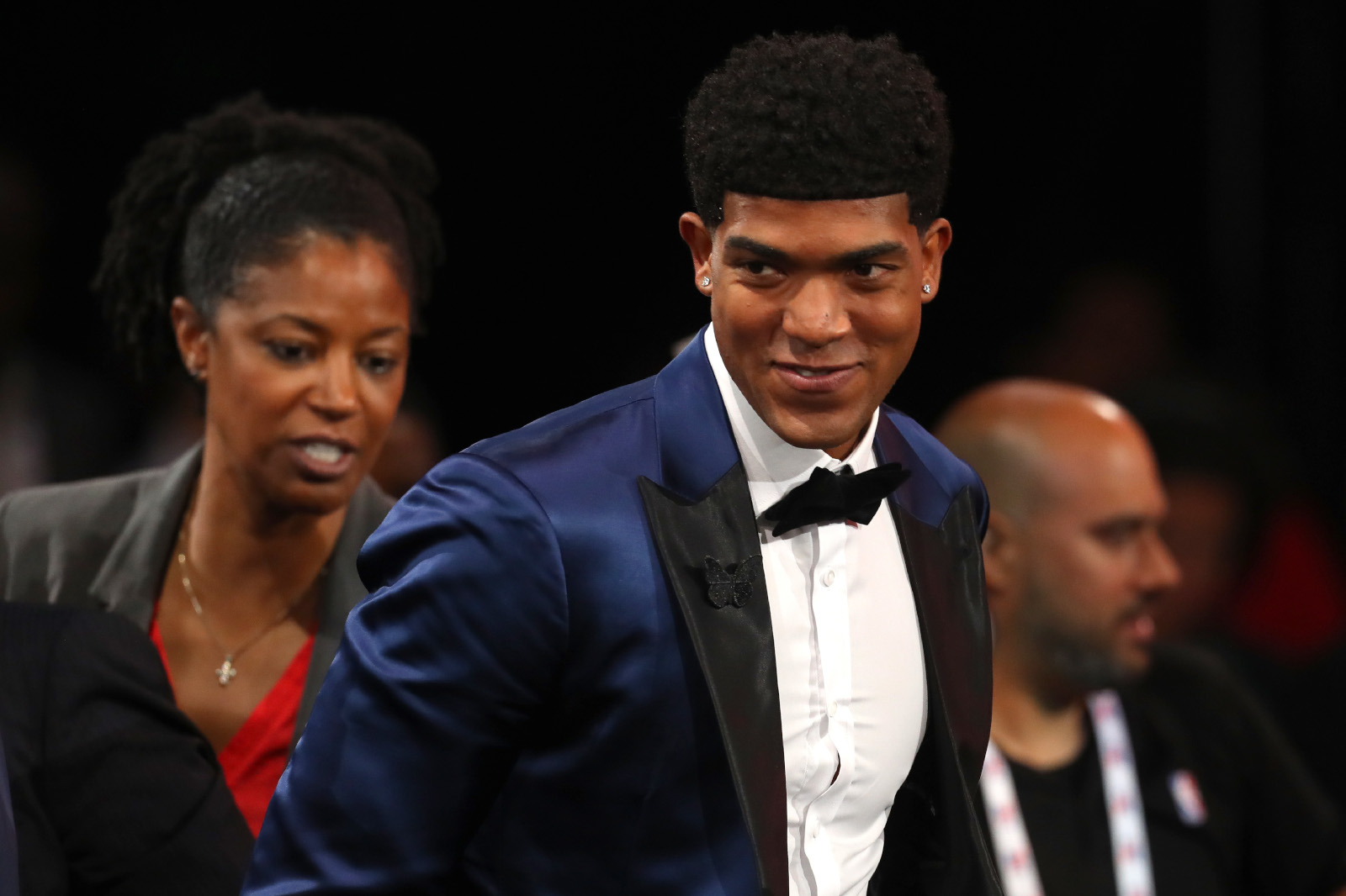 Chandler Hutchison reacts after being drafted 22nd overall by the Chicago Bulls during the 2018 NBA Draft at the Barclays Center on June 21, 2018 in the Brooklyn borough of New York City.