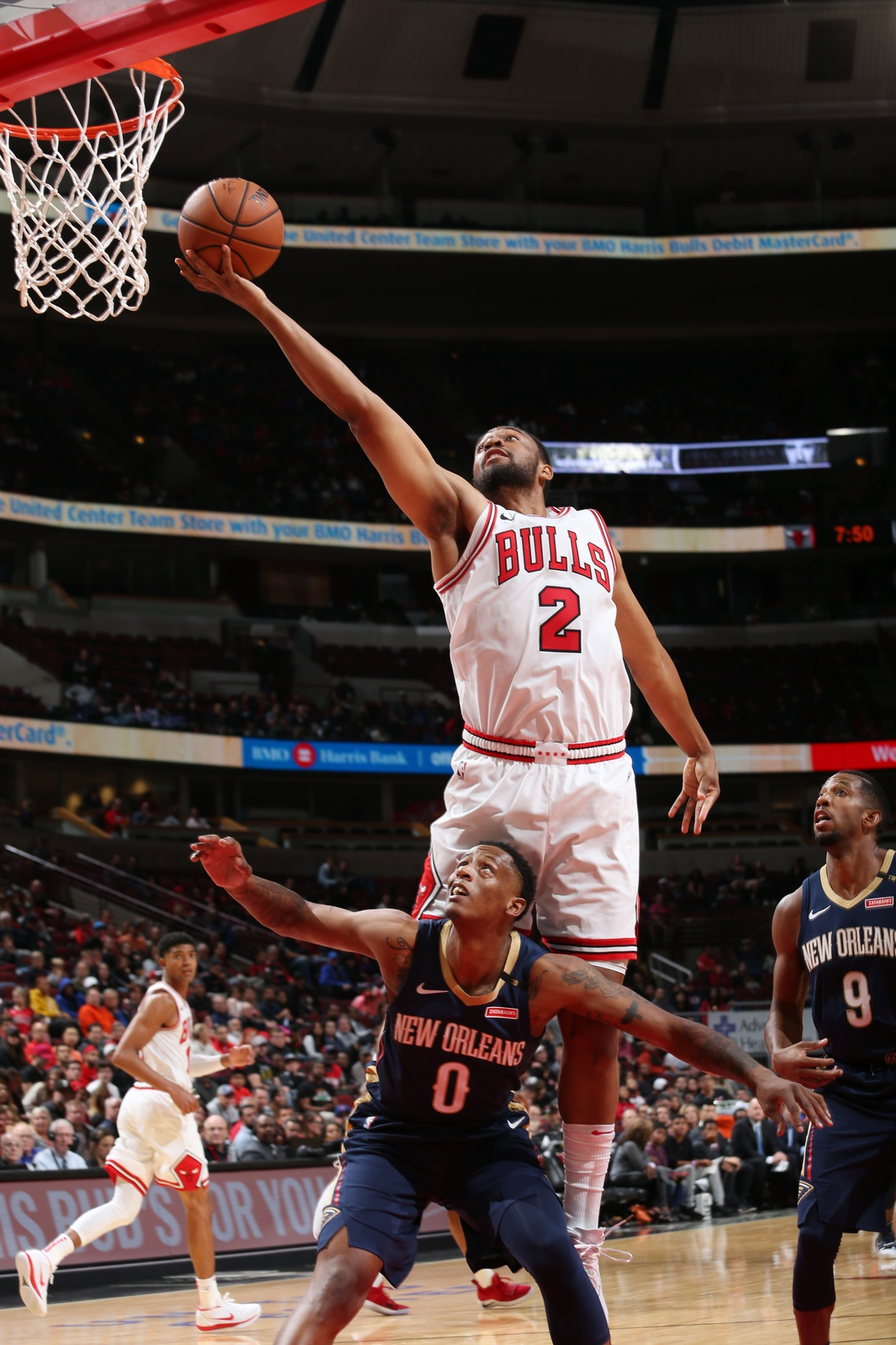 Jabari Parker #2 of the Chicago Bulls shoots the ball against the New Orleans Pelicans during a pre-season game on September 30, 2018 at the United Center in Chicago, Illinois.