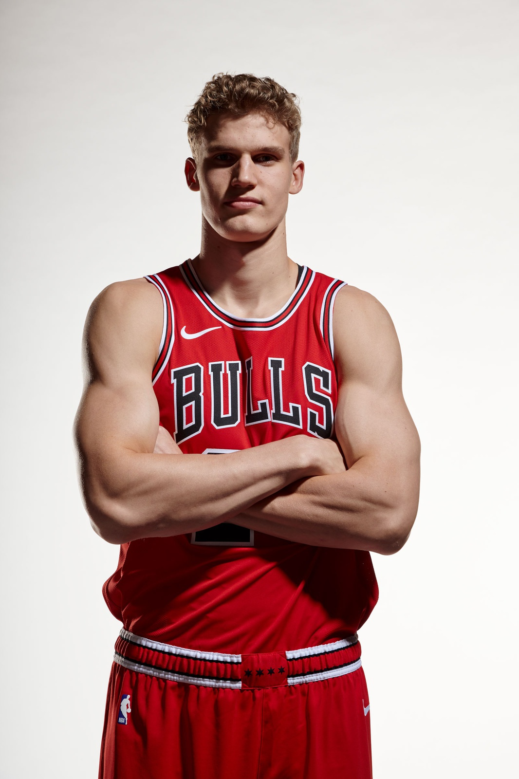 Lauri Markkanen of the Chicago Bulls poses for a photo for Media Day