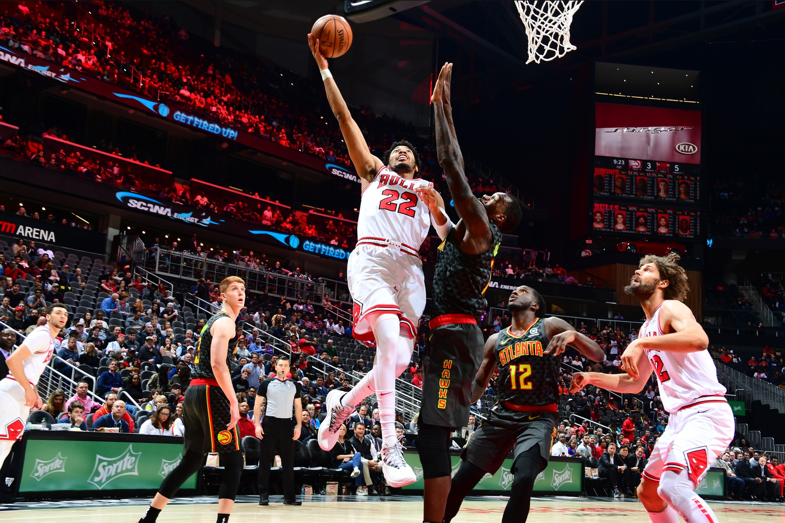 Otto Porter Jr. #22 of the Chicago Bulls shoots the ball against the Atlanta Hawks on March 1, 2019 at State Farm Arena in Atlanta, Georgia.