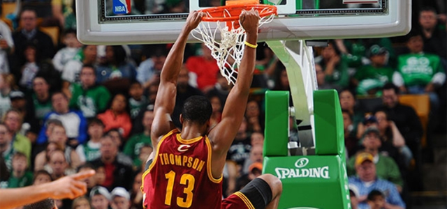 Tristan Thompson Dunk vs. Boston