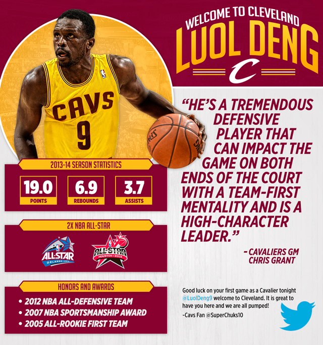 Luol Deng Infographic
