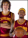 Anderson Varejao and Daniel Gibson