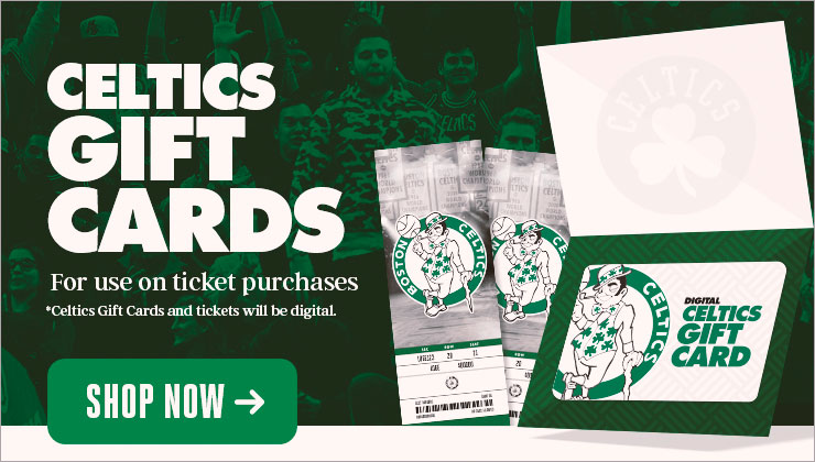 Celtics Gift Cards - Shop Now