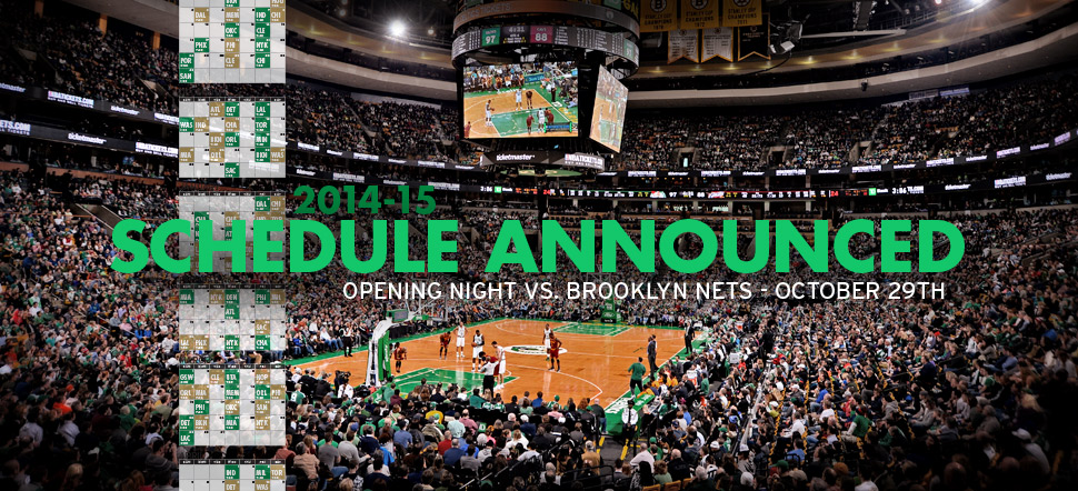 2014-15 Schedule Announced