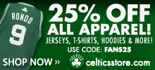 25 Percent Off All Apparel!