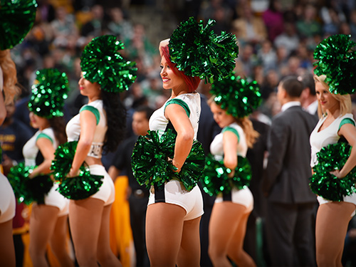 Celtics Dancers On Court