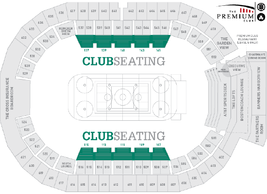 club membership includes - Td Garden Seating