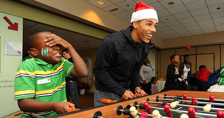 C's Spread Holiday Cheer to Local Youth