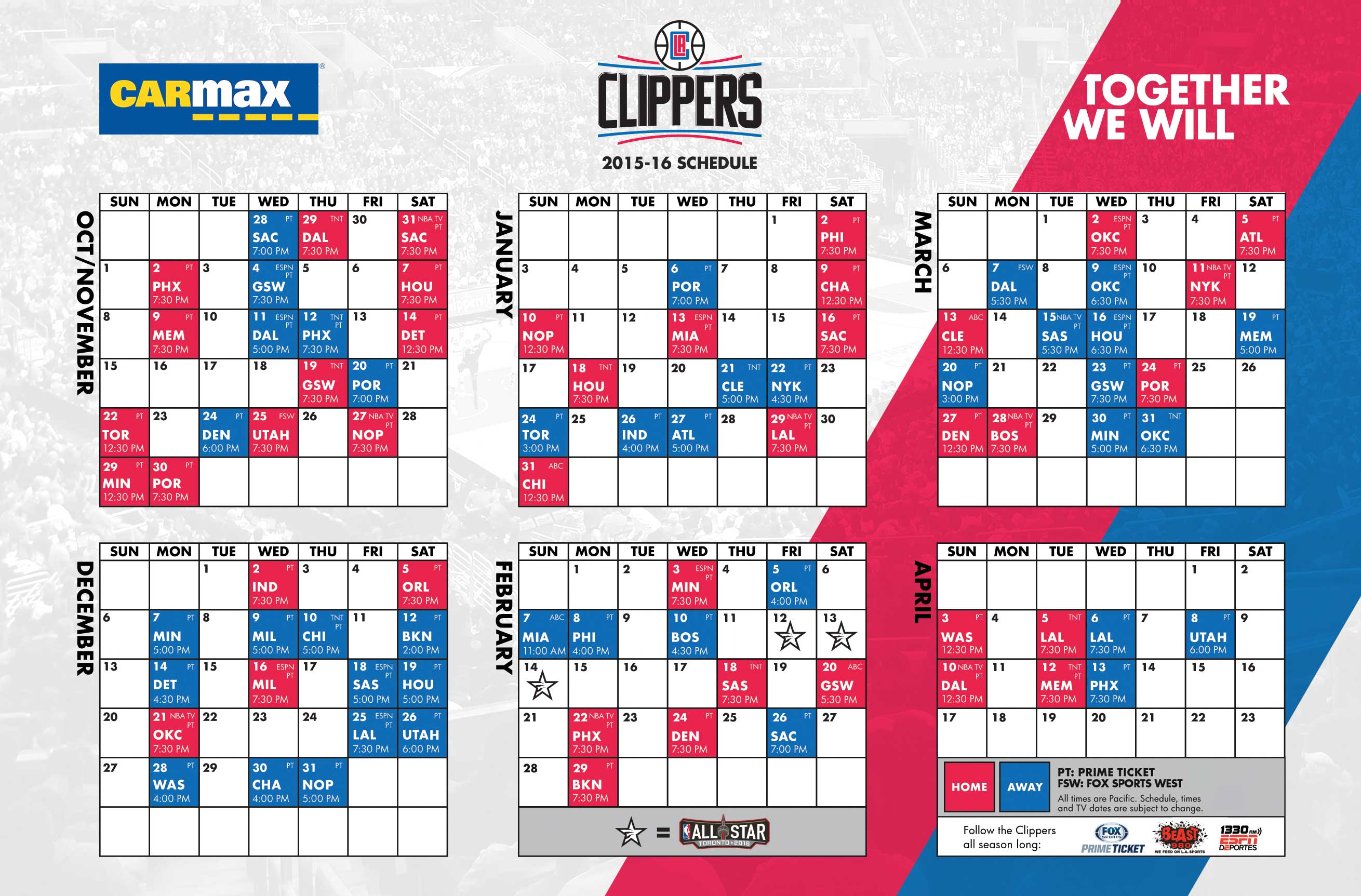 carmax schedule magnet giveaway | los angeles clippers