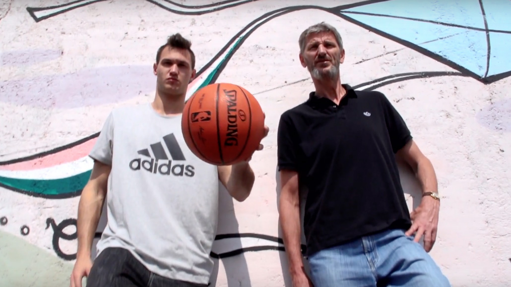 Danilo Gallinari and his father, Vittorio Gallinari