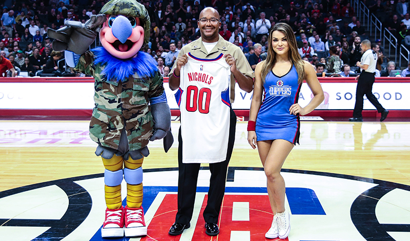 Clippers Military Hero of the Game, Kyle Long