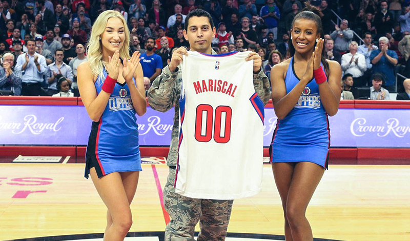 Clippers Military Hero of the Game, Angel Mariscal