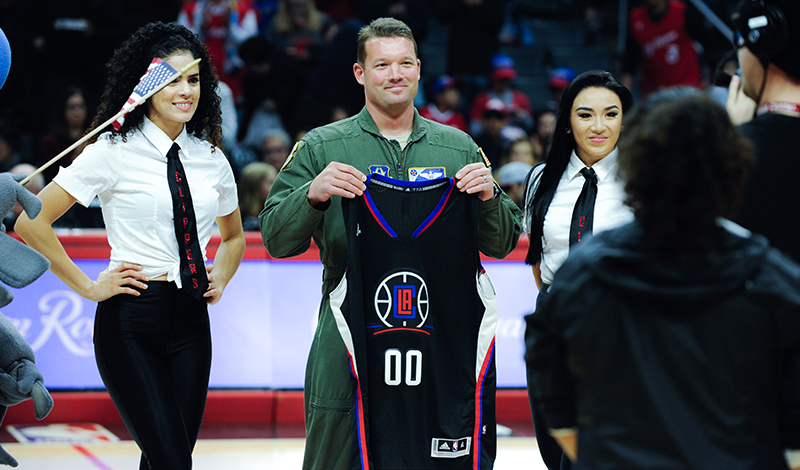 Clippers Military Hero of the Game, Captain Daniel Greer