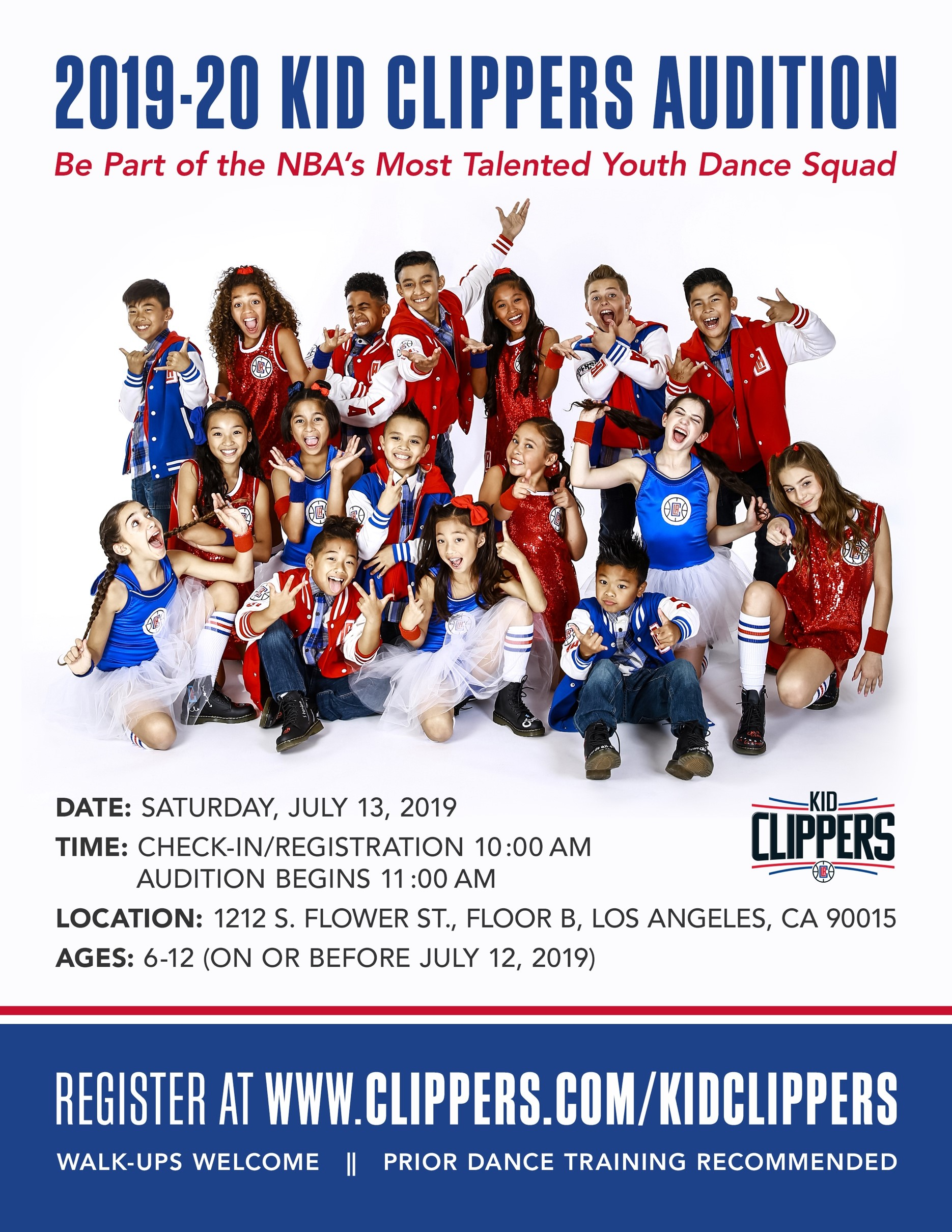 Kid Clippers 2019-20 Auditions
