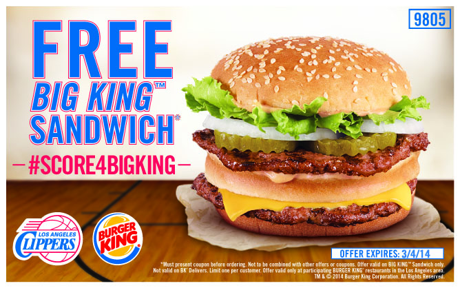 FREE Big King Sandwich at Burg...
