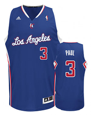 Photo of dark blue Clippers jersey