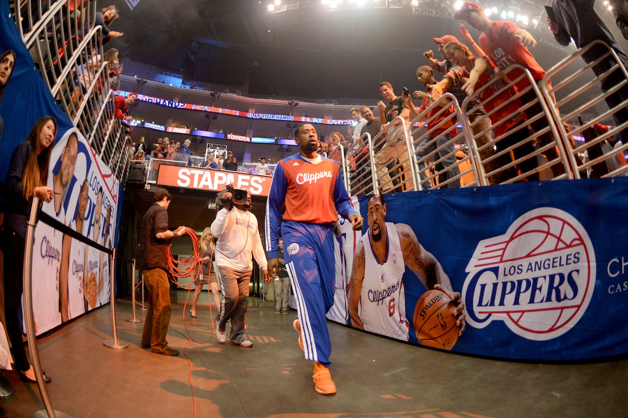 DeAndre Jordan walks out the tunnel