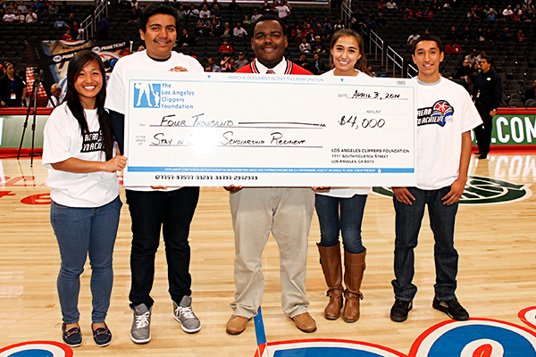 Image of a Clippers Foundation Donation