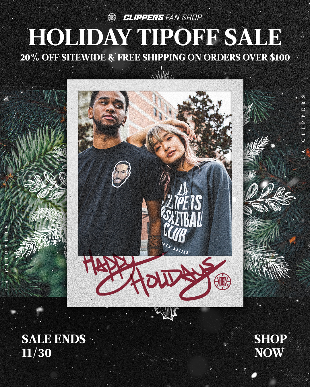Clippers Fan Shop Holiday Tipoff Sale