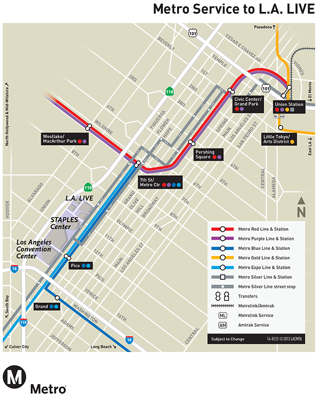 Redline Metro Map Los Angeles.Public Transportation La Clippers Los Angeles Clippers