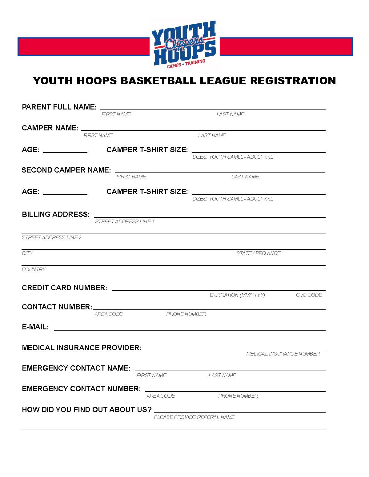 Clippers Youth Hoops Basketball League - PDF | LA Clippers