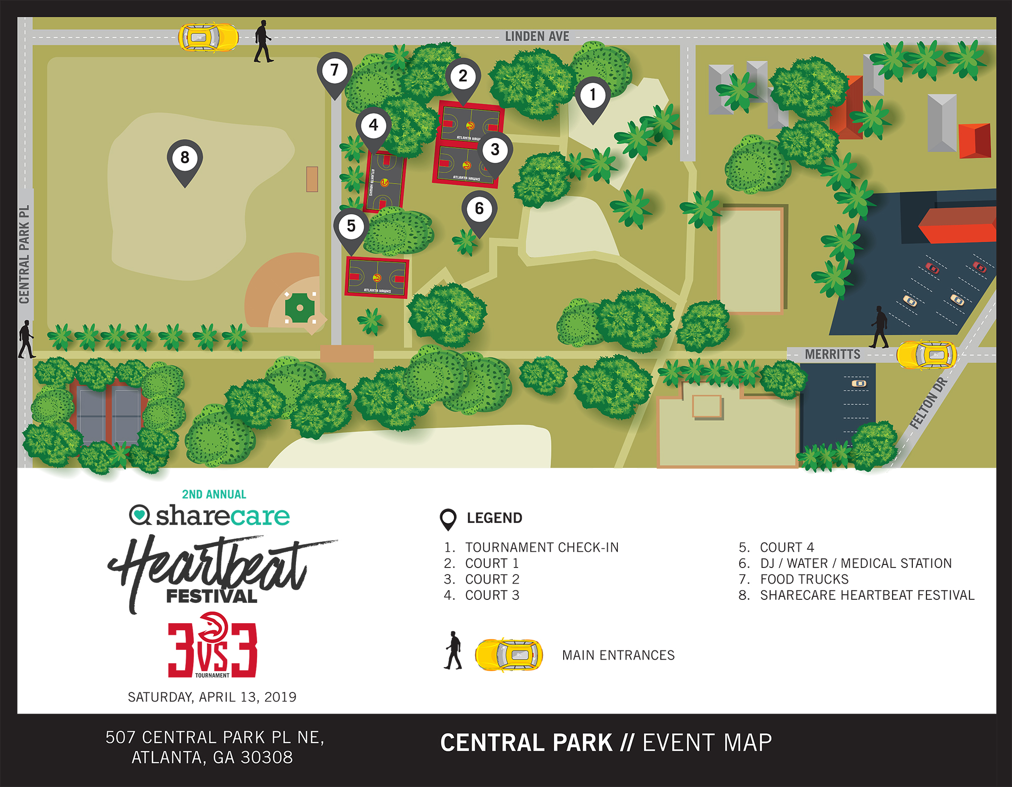 2nd Annual Sharecare Heartbeat Festival Map