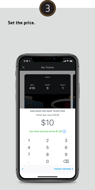 Sell My Tickets - Step 3