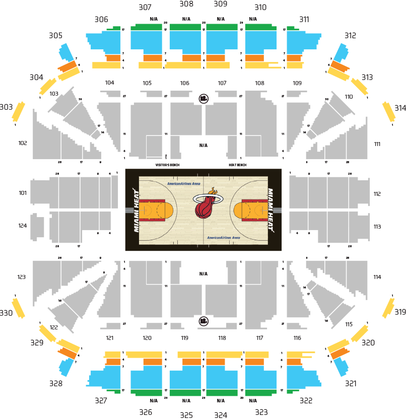 Miami Heat Floor Seats Season Tickets – Gurus Floor