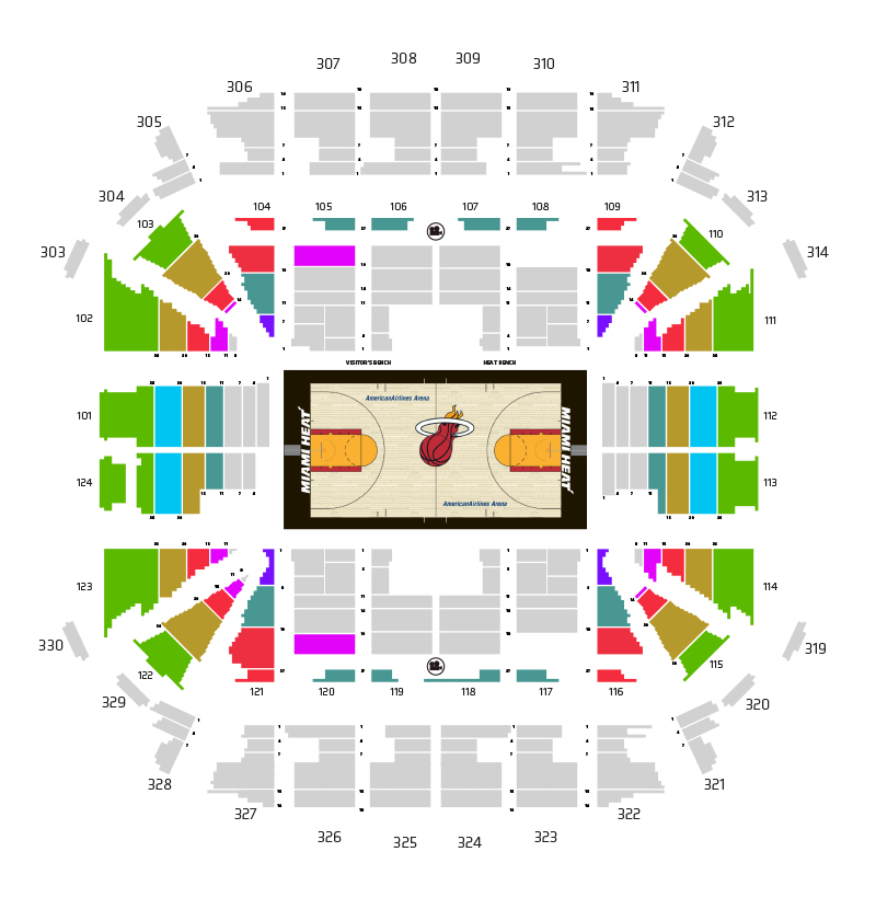 HEAT Ticket Plan Map - Tier 2 Price