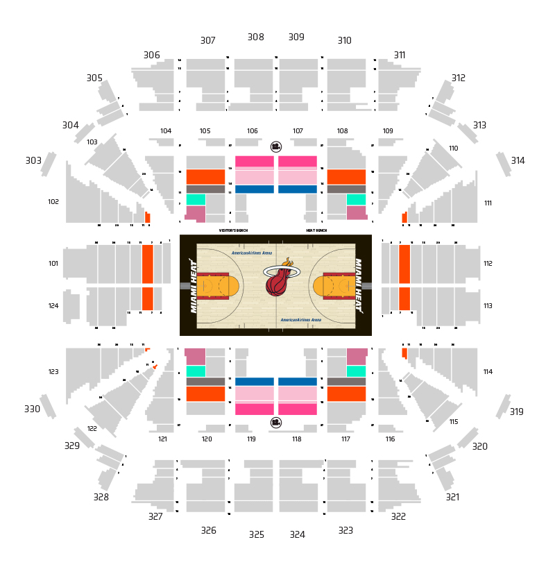 HEAT Ticket Plan Map - Tier 3 Price