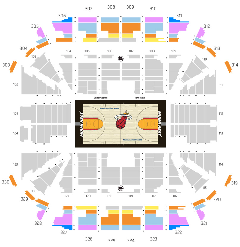 HEAT Ticket Plan Map - Tier 1 Price
