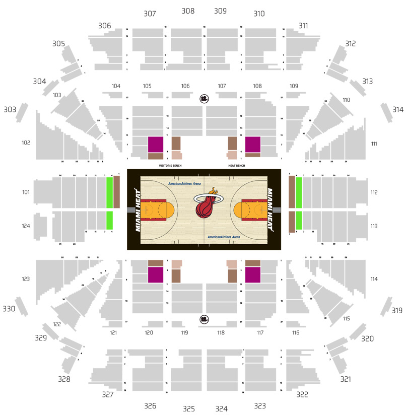 HEAT Ticket Plan Map - Tier 4 Price