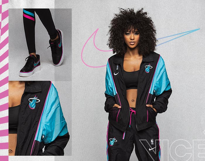 Nike Miami HEAT Vice Black City Edition Courtside Track Jacket and Pants
