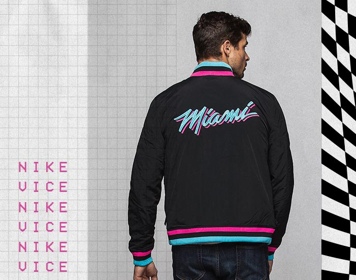 Nike Miami HEAT Vice Black City Edition Courtside Jacket