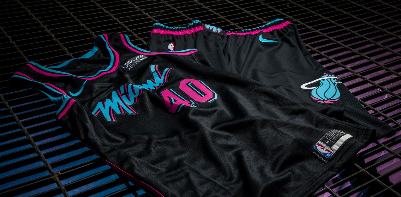 free shipping 6bd1b 1b11d 2018-19 Miami HEAT Vice Nights Uniform Collection - Jersey ...