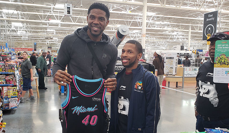 Udonis Haslem Christmas Event